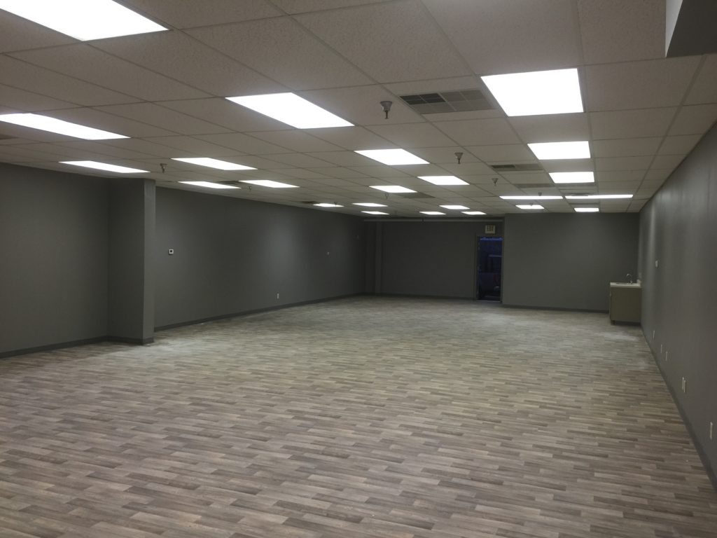 Commercial Office Space.  Removed interior Walls, Repainted and Replaced the Flooring